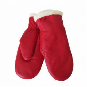 Naisten punaiset nahkarukkaset villavuori.